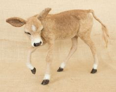 """""""MaryBeth the Jersey Cow Calf,"""" by TheWoolenWagon. Very cute."""