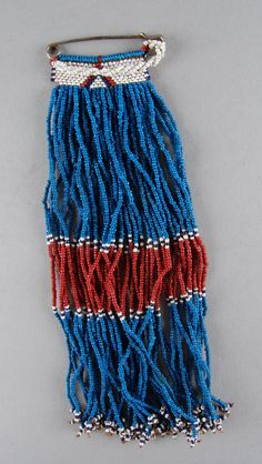 Xhosa beaded blanket pin from the Mpondo or Mpondomise people, Eastern Cape, South Africa