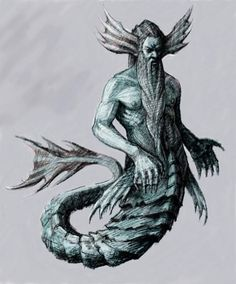 Nereus- Greek god: the old man of the sea. he was able to shapeshift and had the gift of prophecy. he was the eldest son of Pontus and Gaia. along with the Oceanid Doris, he fathered the Nereids and Nerites