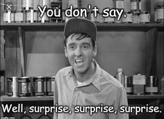 Tv Quotes, Funny Quotes, Barney Fife, The Andy Griffith Show, Southern Sayings, You Dont Say, Old Shows, Comedy Tv, Deep