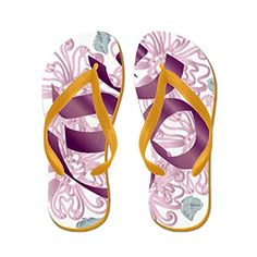 59f90608b619c Truly Teague Womens Hindu Om Omkara Aum Meditation Symbol Orange Rubber  Flip Flops Sandals 911