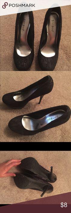 Bamboo lace heels size 7 Bamboo lace heels BAMBOO Shoes Heels