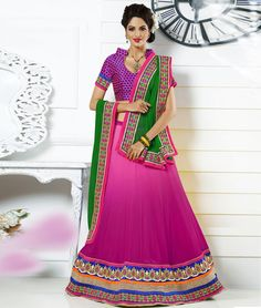 UpTo 20% OFF On Offer Price. Extra Rs.250 Discount Coupon. PINK GREEN #LEHENGACHOLI WITH DUPATTA Shop Now:- http://www.shoppers99.com/designer_lehenga_choli_collection/pink_green_lehenga_choli_with_dupatta_t-586-1896-c