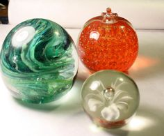 Blown Glass Paper Weights Instant Collection of 3 by FoundAround, $25.00