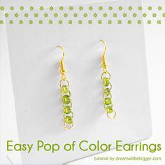Easy Pop of Color Earrings - Dream a Little Bigger