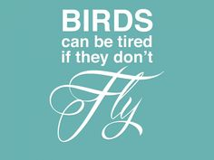 Birds can be tired if they don't Fly!