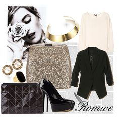 Romwe, created by giuliacarraro on Polyvore...love the skirt, so into that!
