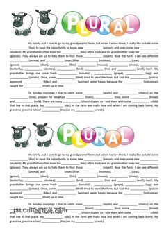 Text - Plural of nouns worksheet - Free ESL printable worksheets made by teacher. Text - Plural of nouns worksheet - Free ESL printable worksheets made by teachers Informationen zu Text - Plural of n worksheet Plural Form Of Nouns, Irregular Plural Nouns Worksheet, Plural Words, Irregular Plurals, Singular And Plural, Grammar Worksheets, Printable Worksheets, Reading Worksheets, English Lessons