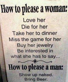 Pleasing a woman/Pleasing a man