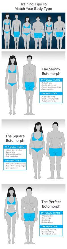 Are you an ectomorph, endomorph, or mesomorph? The type of body you were born with can have a big impact on how effective your workout will be. Develop a program that matches your body type and get ready for some big gains! Yoga Fitness, Health Fitness, Fat Girl Problems, Best Gym, Workout Challenge, Training Tips, Hiit, Weight Lifting, Personal Trainer