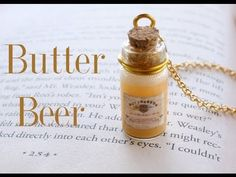 # 4 Bottle Charm Tutorial, DIY and Crafts, Butterbeer : Harry Potter Potion Ep. Potion Harry Potter, Harry Potter Jewelry, Harry Potter Outfits, Harry Potter Diy, Bottle Jewelry, Bottle Charms, Bottle Necklace, Clay Charms, Glass Bottle