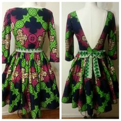 Button Babydoll Ankara Wax print dress by LiLiCreations on Etsy, $95.00