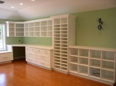 craft room shelving, would be a great workspace by smt8