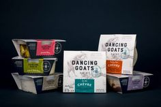 Goat Cheese Packaging Design for Dancing Goats Dairy