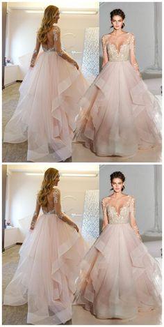 New Arrival Prom Dress,Open Back Lace Ball Gowns Prom Dresses Long Open Backs Prom Gown P0073 #promdress #promdresses #promgown #promgowns #long #laceprom #modestpromdress #newpromdress #2018fashions #newstyles #pinkprom #laceprom #backless #openbacks