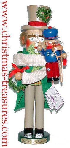 Steinbach Nutcracker Bob Cratchit with Tiny Tim - mantle