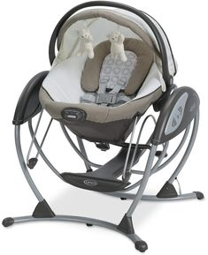 This Graco Soothing System Glider features a swing, bassinet and bouncer, all in one. With the same gentle motion of a nursery glider, the soothing music and 6 gliding speeds will entertain baby for hours. Perfect for comforting and stimulating your baby. Graco Baby Swing, Baby Glider, Baby Swings And Bouncers, Soothing Baby, Baby Bouncer, Baby Bassinet, Baby Safe, Infant Activities, Gliders