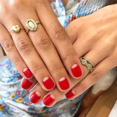 Best Nail Polish Colors of 2020 for a Trendy Manicure Minimalist Nails, Minimalist Chic, Moon Nails, Half Moon Manicure, Painted Nail Art, Hand Painted, Manicure Y Pedicure, Red Manicure, Pedicure Ideas