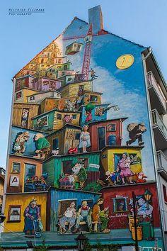 Street Art V - Arts - Whimsical Creations, Streetart (Straßenmalerei, Skurriles) - Arte Murals Street Art, 3d Street Art, Street Art Banksy, Urban Street Art, Amazing Street Art, Mural Art, Street Artists, Graffiti Artists, Art Public