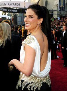 Sandra Bullock in Marchesa at the 2012 Oscars