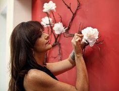 Decoración con ramas naturales Oriental Decor, Oriental Design, Branch Decor, Nature Decor, Love Home, Home Deco, Interior Decorating, Backdrops, Wall Art