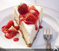 New York Cheesecake-Rezept New York Cheesecake Rezept, Fruit Cheesecake, Best Cheesecake, Cheesecake Recipes, Sweets Cake, Cupcake Cakes, Wine Recipes, Baking Recipes, American Cheesecake