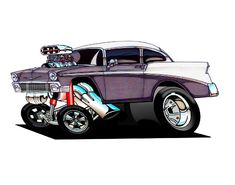 Full color prints of just about any the images you will ever see on my site are available for purchase Car Drawings, Cartoon Drawings, Cartoon Art, Classic Hot Rod, Classic Cars, Cartoons Magazine, Chevy Muscle Cars, Garage Art, Weird Cars