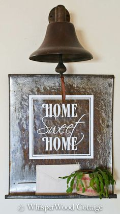 Love the rusty sign and bell