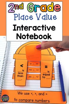 Place value interactive notebook pages! Includes a page or more for each Grade 2 Common Core Place Value Math Standard: Place and Value, Base Ten Blocks, Base Ten Equivalencies, Base Ten Model, Expanded Form, Word Form, Ways to Represent Numbers, Skip Counting, Comparing Numbers, Ordering Numbers.