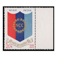 This stamp was Issued on the occasion of its 25th anniversary. The P & T Department have much pleasure in bringing out this stamp commemorating the silver jubilee of the NCC and dedicate it to the youth of the country. The stamp depicts the emblem of NCC. Get this 1 single stamp with right margin only on Mintage World.