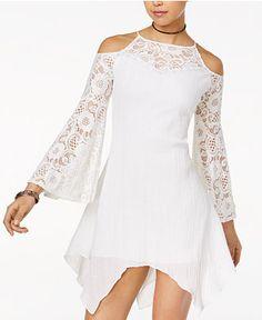 The Edit By Seventeen Juniors' Handkerchief-Hem Shift Dress, Only at Macy's - Juniors Dresses - Macy's