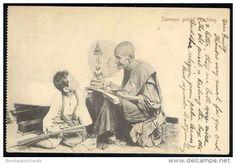 Cartes Postales - siam thailand, Monk Somdej Toh teaching King Chulalongkorn Rama V (1899)