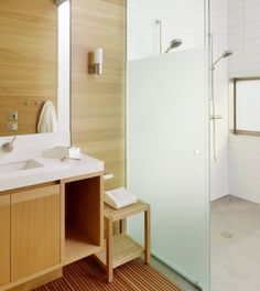 Glass wall and shower enclosures open up your bathroom