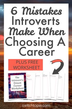 6 Mistakes Introverts Make When Choosing A Career - Switchtopia Finding The Right Career, Find A Career, Choosing A Career, Dream Career, Job Career, Career Coach, Career Change, Find A Job, Career Advice