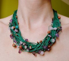 Necklace: amethyst, agate, desert sand from Jewelry&Hand Made by DaWanda.com