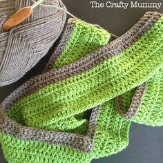 crochet blanket green grey progress
