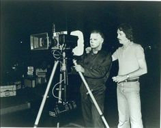 Tony Moran & John Carpenter behind the scenes Halloween 1977.