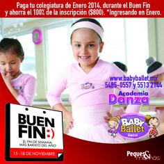 Baby Ballet Insurgentes Sur te trae este excelente descuento por El Buen Fin... Consulta más descuentos en: http://www.elbuenfin.org/buscar/empresa/101479