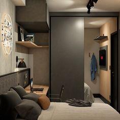 Home Office Bedroom, Bedroom Setup, Room Design Bedroom, Bedroom Decor, Home Studio Setup, Studio Room, Small Room Design, Kitchen Room Design, Condo Interior Design