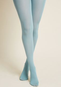 You're not one to seek approval, but upon wearing these pale blue tights, the A-OK of every onlooker certainly doesn't hurt your self-esteem! An...