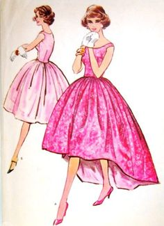 1950s Misses Evening Gown or Cocktail Dress