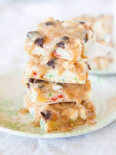 Cookie butter Funfetti triple chip bars.