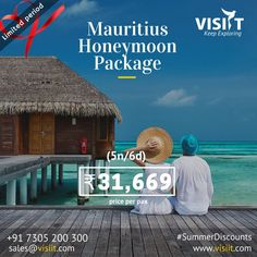 Visiit (@VisiitHoliday) | Twitter Honeymoon Packages, Travel Deals, Mauritius, Packaging, Tours, Explore, Twitter, Exploring, Wrapping