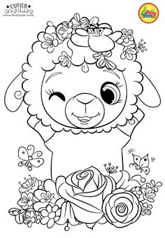 Cuties Coloring Pages for Kids – Free Preschool Printables – Slatkice Bojanke – Cute Animal Coloring Books by BonTon TV Free Kids Coloring Pages, Coloring Pages For Teenagers, Coloring Pages For Grown Ups, Animal Coloring Pages, Coloring Pages To Print, Free Printable Coloring Pages, Coloring Book Pages, Coloring For Kids, Pokemon Coloring