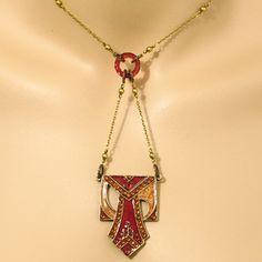 Anne Koplik Art Deco Jewelry - Red