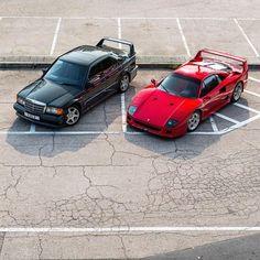 Mercedes v Ferrari Mercedes W201, Mercedes Benz 190e, Carl Benz, Racing Seats, Ferrari F40, Car Tuning, Vintage Cars, Cool Cars, Super Cars