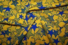 Baumwolljersey Jersey Sterne Stars gelb blau J.Swafing Vicente Öko-Tex 100