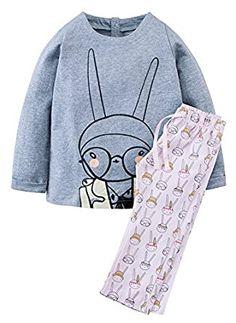 Amazon.com: Fiream Girls Cotton Cute Print Long Sleeve Clothing Set: Clothing