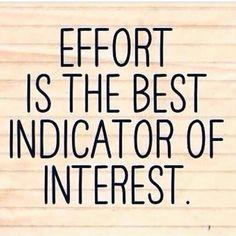 Effort speaks