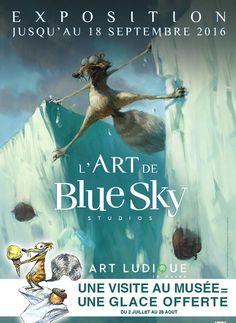 """#concours Gagner 2 places pour l'exposition """"l'art de blue sky"""""""